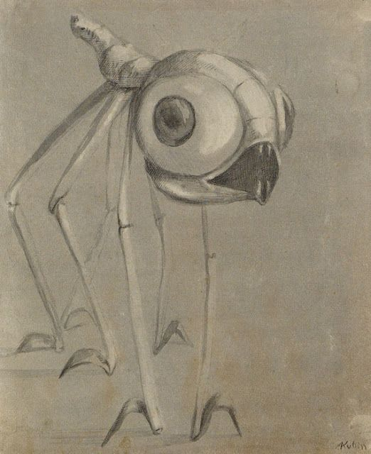 Alfred Kubin, insect of the moon, 1910