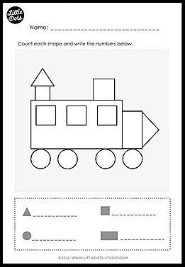 Kindergarten Math Shapes Worksheets and Activities. Download ...