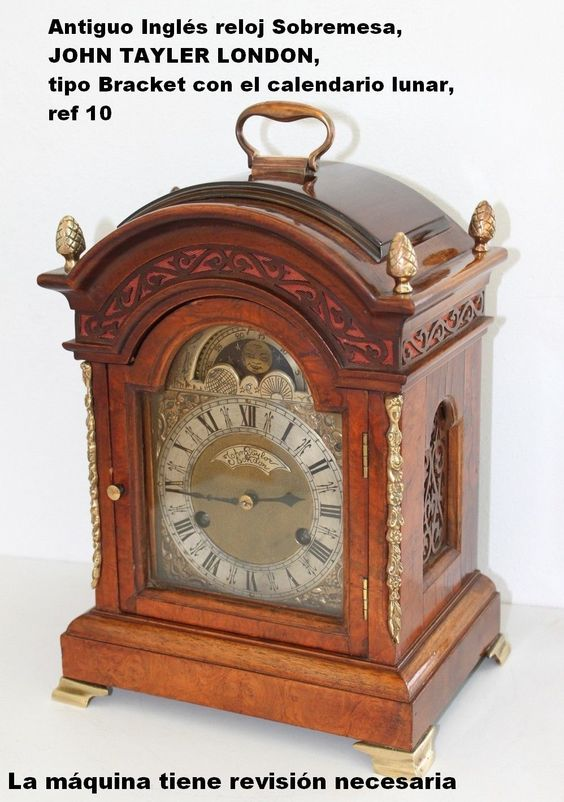 Antiguo Inglés reloj Sobremesa, JOHN TAYLER LONDON, necesita revisión, ref 10 | eBay