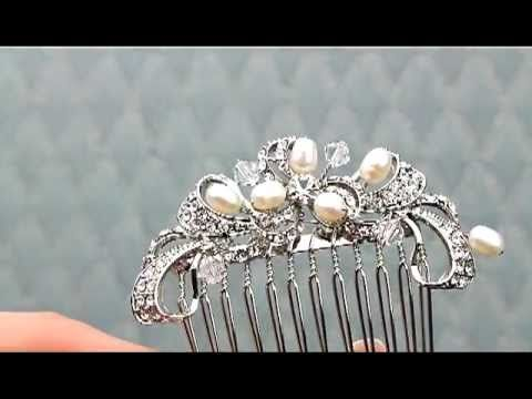 ANS-A7608 Vintage Inspired Antique Silver Rhinestone Hair Comb http://www.haircomesthebride.com/Combs-ANS-A7608_silver.htm
