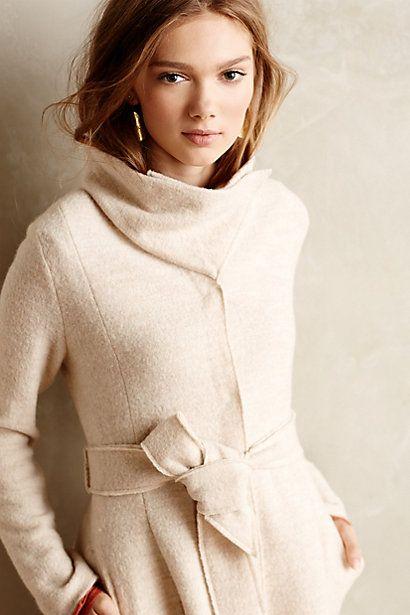 shawled wool sweater coat / anthropologie | i like clothes
