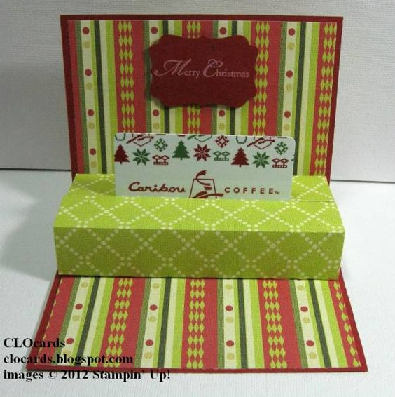 Easy Gift Card Holder by CLOcards - Cards and Paper Crafts at Splitcoaststampers
