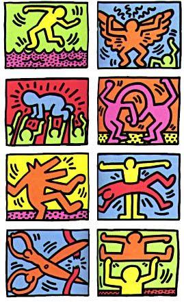 Keith Allen Haring, dessinateur, peintre et sculpteur américain des années 1980. 1958-1990