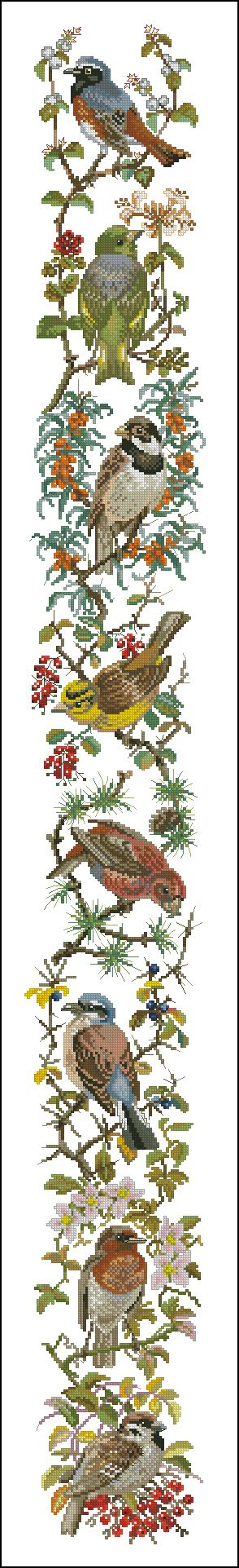 """Сачать схему вышивки """"Birds"""""""