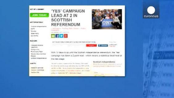 El Sí se impone en Escocia a falta de diez días para la consulta