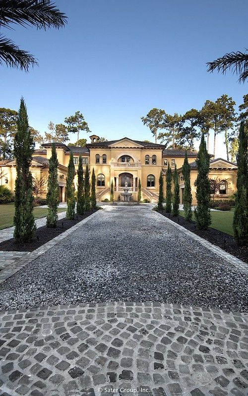 Villa Belle Stone Driveway Luxury Homes Luxury Homes Dream Houses Mansions