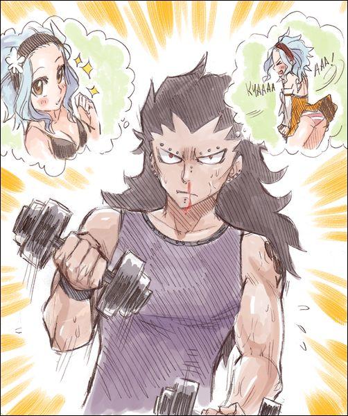 Fairy Tail - Gajeel - Training
