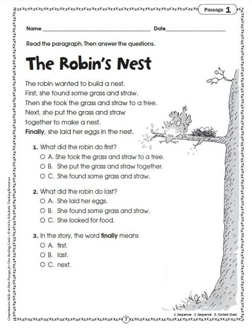 Image Result For Short Comprehension Stories With Question And Answers For Grade 1 Close Reading Passages Reading Passages Sequencing Worksheets