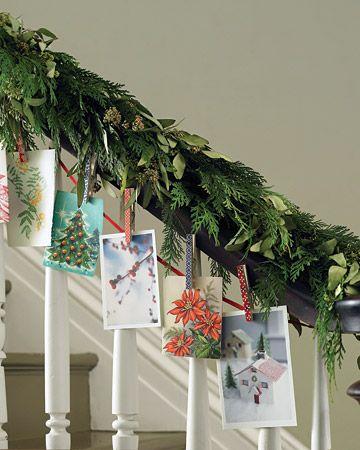pinterest ideas for christmas card display