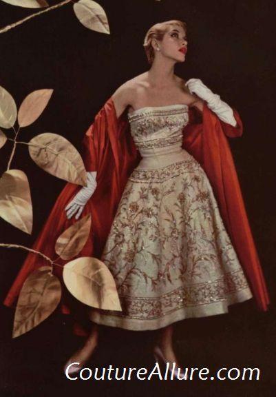 Vestidos de noite Vintage - 1955 Jean Patou