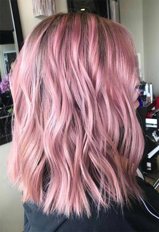 55 Lovely Pink Hair Colors Tips For Dyeing Hair Pink Pink Hair Dye Colored Hair Tips Hair Color Pink