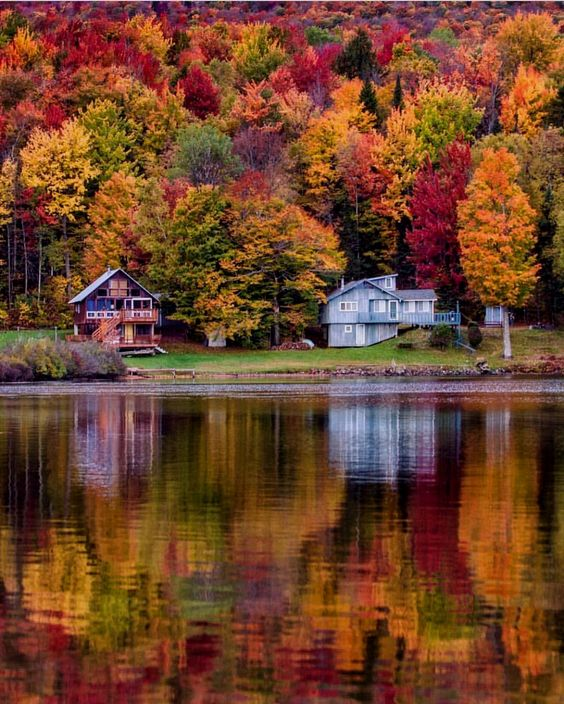 Happy Thanksgiving Day Lake Elmore Vermont Picture