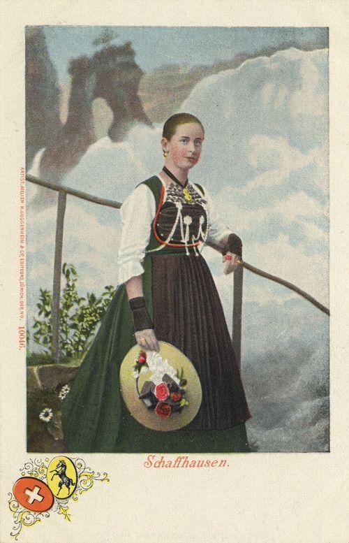 Schaffhausenerin, Schweiz, Postkarte, ca. 1900