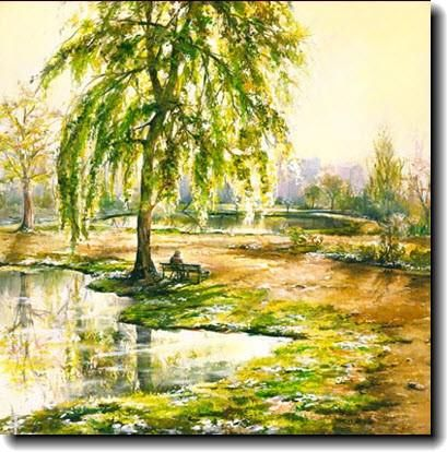 Park, canvas print by Akiane Kramarik