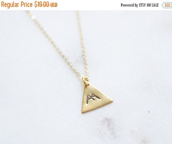 BLACK FRIDAY SALE Small Gold Mountain Necklace by peachtreelane