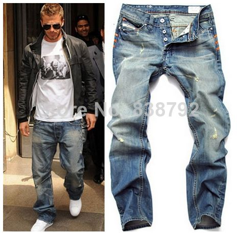 2014 New Arrival Men's Designer Jeans Famous Brand Slim Straight ...