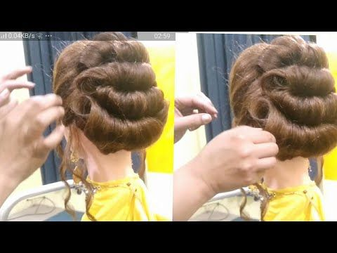 Bridal Hairstyle Juda With Puff Wedding Hairstyle Party Hairstyles New Hairstyles Easy Hairstyles Youtube Party Hairstyles Hairstyles Juda Hair Styles