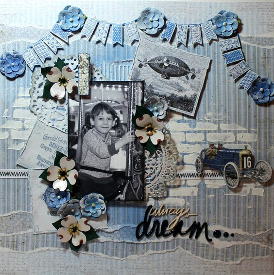 "Layout: ""Always Dream"" Created by Lainie Michel for Flying Unicorn CT"