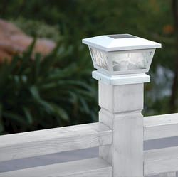 Hollandale 2-in-1 White Post Cap Light with Wall Mounting Bracket