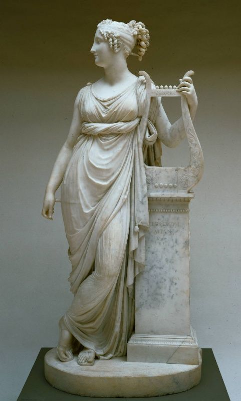 """Antonio Canova's sculpture of Terpsichore - her name means """"delight of dancing"""" She was one of the nine Muses, ruling over dance and the dramatic chorus."""