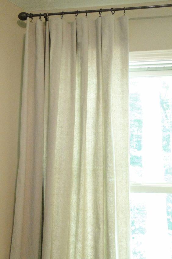 Remodelaholic » Blog Archive Drop Cloth Curtains DIY » Remodelaholic