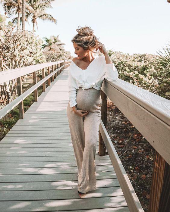 Стильная беременная