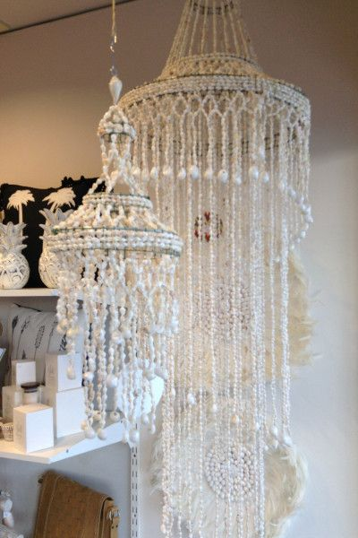 would love one of these - Ax - Shell Chandelier - Tear Drop
