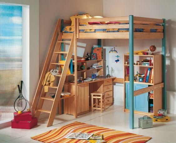 ikea lit mezzanine, meubles d'enfant, jolie variante