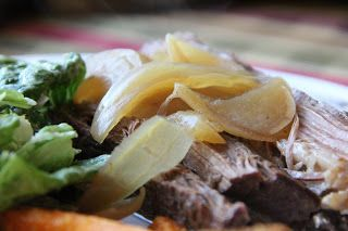 Caramelized Onion Brisket in the crock pot!  YES, PLEASE!