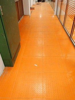 Suelo de goma, color naranja