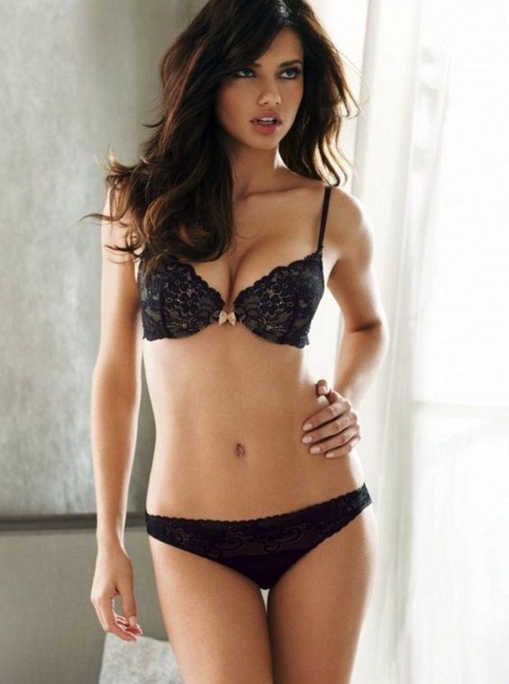Black lingerie- Adriana Lima