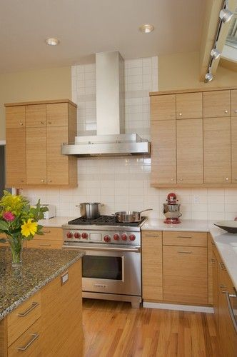Flats countertops and the white on pinterest for Bentwood kitchen cabinets