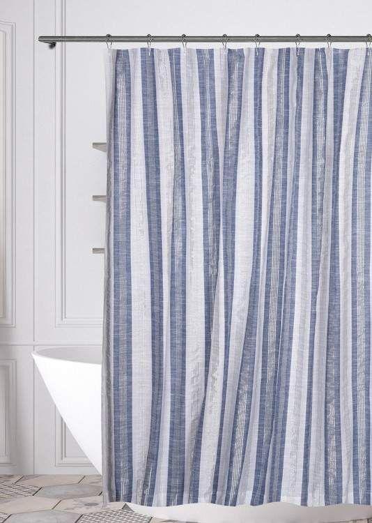 Duck River Textile Pythia Shower Curtain White Denim In 2020