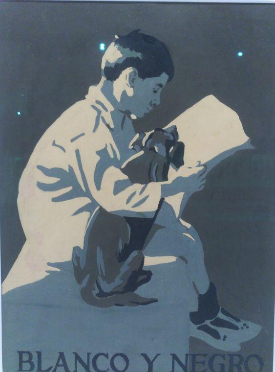 """María del Pilar Gallastegui (1904-1986), """"Amigos"""". Acuarela. Revista Blanco y Negro. Foto tomada del Museo de ABC. Exposición Dibujantas. Disculpen la calidad de mis fotos"""