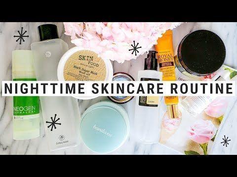 My 10 Step Nighttime Korean Skincare Routine Youtube