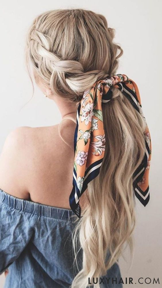 Summer Hairstyles With Headscarves Headband Hairstyles Long Hair Styles Scarf Hairstyles
