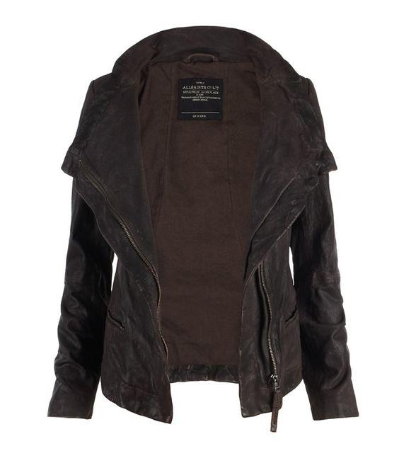 Texas Leather Jacket, Women, Leather, AllSaints Spitalfields