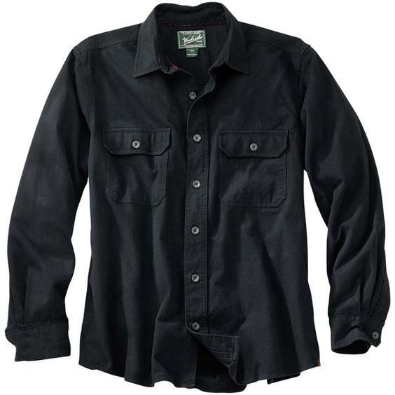 Woolrich Men's Expedition Chamois Shirt (96 BRL) ❤ liked on Polyvore featuring men's fashion, men's clothing, men's shirts, men's casual shirts, men, shirts, guy, tops, black and mens pleated shirt