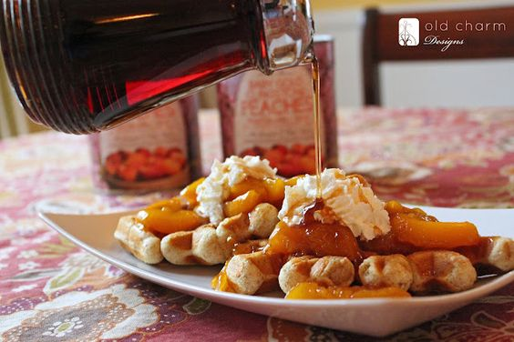 ... with skillet peaches   Whole Wheat Waffles, Peaches and Skillets