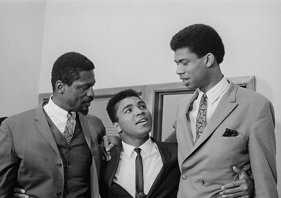 Legends: Mr. Bill Russell, Mr. Muhammad Ali and Mr. Kareem Abdul-Jabbar: