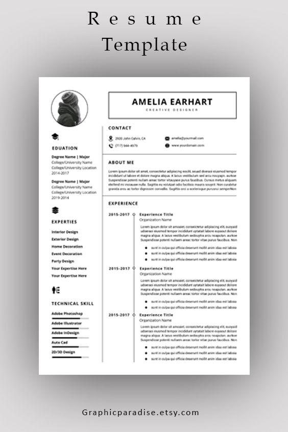 Resume Template Professional Resume Ms Word Resume Modern