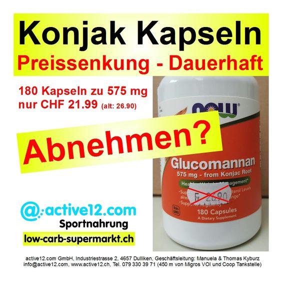 Konjak Kapseln - Preissenkung - Dauerhaft ►►► 180 Kapseln zu 575 mg nur CHF 21.99 (alt: CHF 26.90) #Konjak #Konjac #KonjakKapseln #Glucomannan #NOWFOODS #NOW #lowcarb #lowcarbschweiz #PayaKonjacTuber #fitness #fitnessschweiz #lowcarbswitzerland #lowcarbfood #lowcarbdiet #abnehmen #sixpack #abspecken #Fettmussweg #abnehmenschweiz #fitness #fitnessschweiz #natural #active12