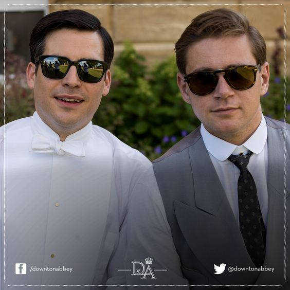 Robert James-Collier and Allen Leech are looking rather 'shady' as they take a break from filming!   Follow us on Instagram for more behind the scenes photos http://instagram.com/downtonabbey_official