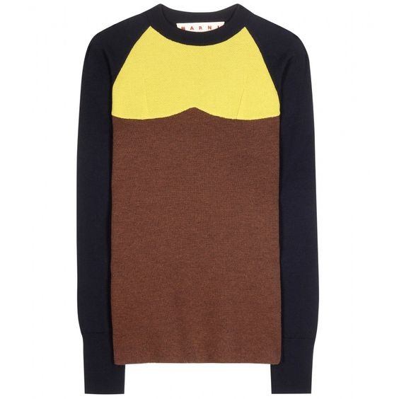 Marni - Knitted wool sweater - We adore this Marni sweater. It fuses an adventurous colour combination with a straight-cut fit for an updated take on art-deco style. Wear with similar colours or dare to pair with contrasting tones. seen @ www.mytheresa.com