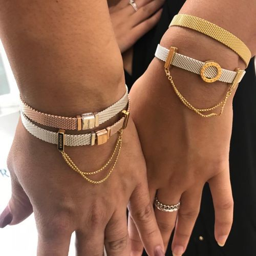 Pandora Reflexions™ Mesh Bracelet | Pandora jewelry, Pandora ...