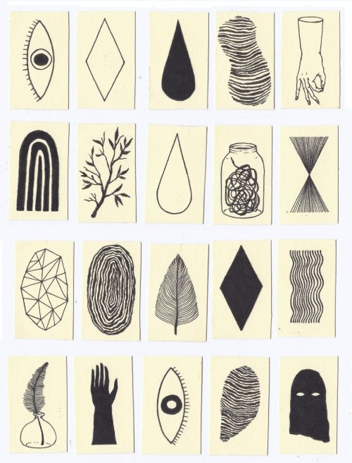 20 Miniature Drawings for a project by Justin B. Nelson #illustration