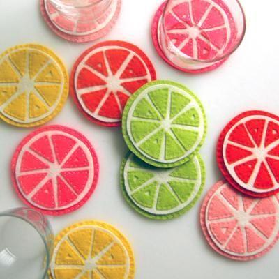 Perfect Citrus Coasters