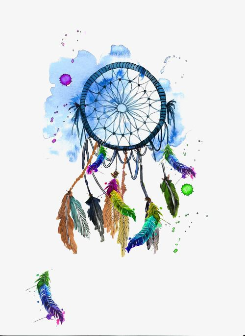 Watercolor Dreamcatcher Illustration Cartoon Hand Painted Png Image And Clipart Dream Catcher Art Watercolor Dreamcatcher Dream Catcher