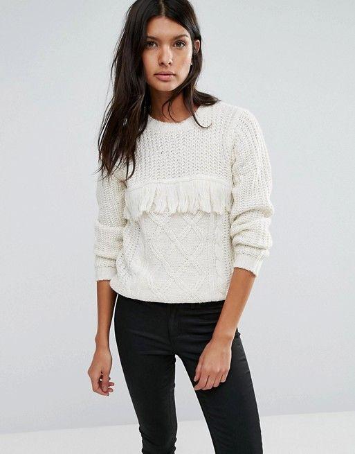 Brave Soul | Brave Soul Tassel Front Sweater:
