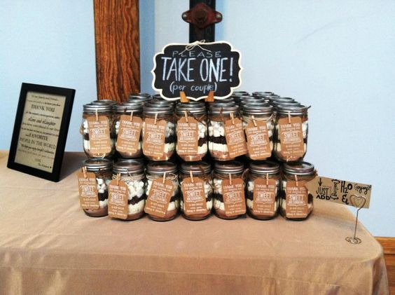 Take And Make Hot Chocolate Wedding Favors